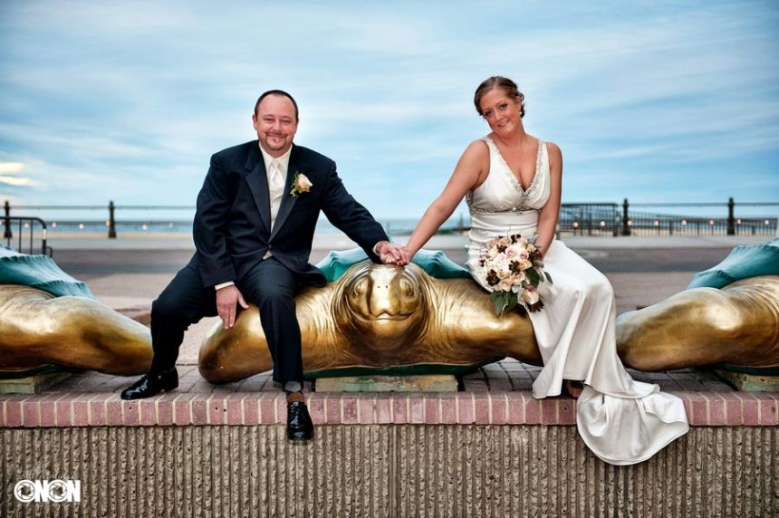 virginia beach wedding photography at the ocean front