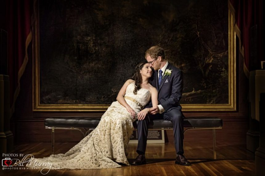 chrysler museum wedding photo romantic alison and niel
