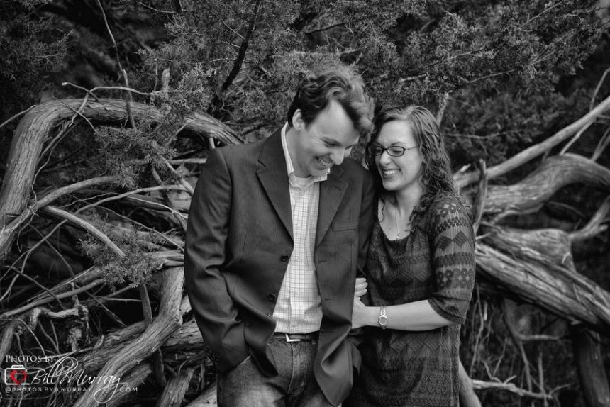 engagement photos couple laughing
