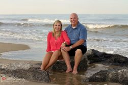 virginia beach oceanfront engagement photo