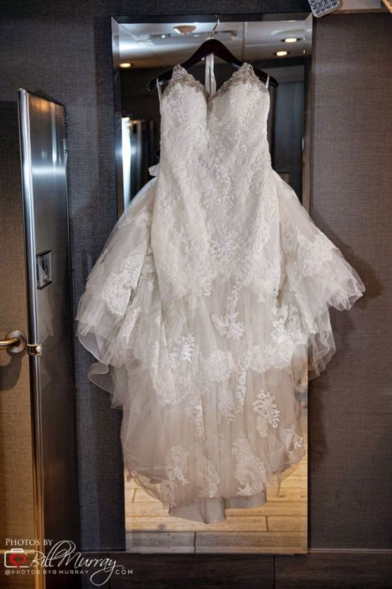 wedding dress hanging within the spirit of norfolk