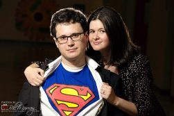 Amy and Ben doing their best Lois and Clark impression